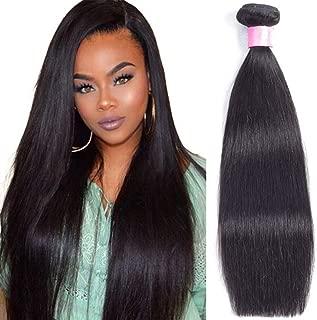 Brazilian Virgin Hair Straight Human Hair 1 Bundle 20 inch 100g 100% Unprocessed Straight Hair Weave Natural Black Color Brazilian Straight Hair Bundles …
