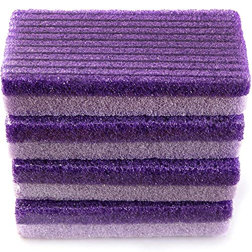 Foot Pumice Stone for Feet, 2 in 1 Callus Remover Foot File Scrubber Pedicure Exfoliation, Suitable for Beauty Salon Bathroom Home (Pack of 4)