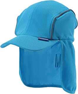 A-SAFETY Hat with Neck Shade, Unisex Moisture-Wicking High Visibility Sports Reflective Gear Hat