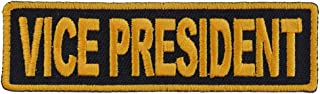 Vice President Patch 3.5 Inch Yellow - 3.5x1 inch. Embroidered Iron on Patch