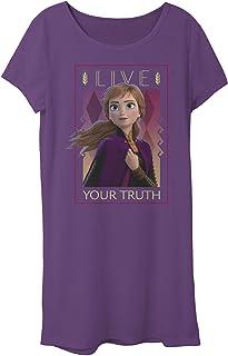 Disney girls Frozen 2 Anna Lives Truth T-Shirt