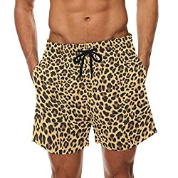 Men's shorts with leopard pattern.