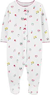 Macacão Pijama C/Pezinho Flores Menina Carter's