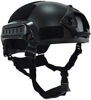 OneTigris Airsoft Paintball MICH 2001 Action Version Tactical Helmet with NVG Mount and Side Rails