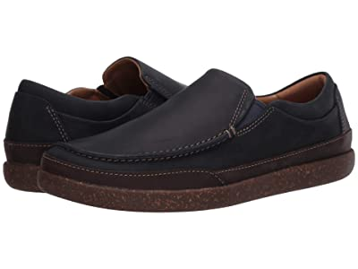 Clarks Un Lisbon Twin (Navy Oily Leather) Men