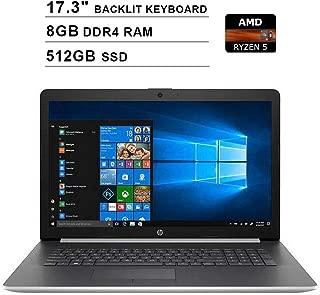 2019 Newest HP Premium Pavilion 17.3 Inch Touchscreen Laptop (AMD 4-Cores Ryzen 5 3500U up to 3.7 GHz, AMD Radeon Vega 8, 8GB DDR4 RAM, 512GB SSD, Backlit KB, DVDRW, WiFi, HDMI, Windows 10)