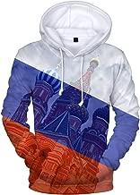 Character Print 3D Womens Vibrato Character Print Hooded Pullover Sweatshirt Thin TIK Tok Unisex Chic Hoodie Fall,Black,S
