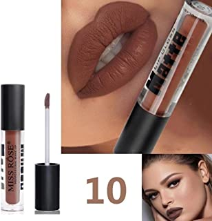 ESAILQ 12 Colores En mate profesional Barra de labios Maquillaje Duradero para J Largo