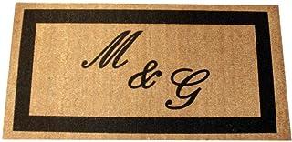 Zerbino Personalizzato da interno - Tue iniziali in cornice - in cocco naturale cm. 100x50x2 LOVEDOORMAT Marchio Registrat...
