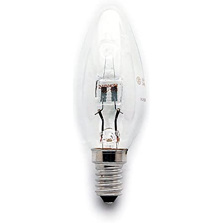 2x Dimmable Energy Saving Halogen Candle 42w (Equivalent to 60w ...