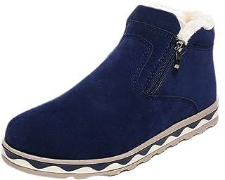 Bottes Homme Hiver, Manadlian Boots avec Doublure Antidérapant Bottes de Neige Chaudes Chaussures Classiques Courts Sneake...