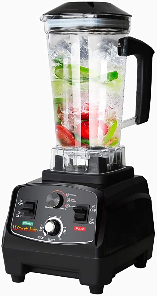 WantJoin Professional Blender, Countertop Blender ,Blender for kitchen Max 1800W High Power Home and Commercial Blender with Timer, Smoothie Maker 2200ml for Crushing Ice, Frozen Dessert, Soup,fish