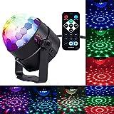 Yafex Mini lumières Disco Lumière du scène lumières de phase, 7couleurs RGB LED làmpara du parti pour Disco, fête, bar, mariage, DJ, KTV, Concerto (Télécommande) B