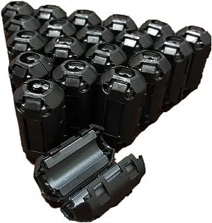 [ラ・モーダ] フェライトコア ノイズフィルター 内径 7mm アマチュア無線 アンテナケーブル (20個セット)