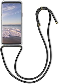 kwmobile Crossbody Case for Samsung Galaxy S9 - Clear Transparent TPU Cell Phone Mobile Cover Holder with Neck Cord Lanyard Strap