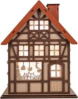 Clever Creations 24 Day Advent Calendar Christmas House Shaped Countdown | Natural Wood Numbers | 100% Wood Construction | Holiday Decoration | Measures 9.75