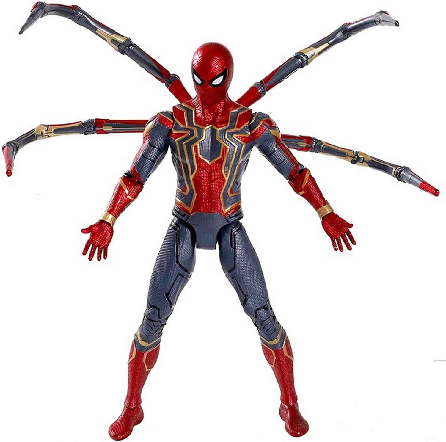 WJBFQY FH Marvel Avengers 3 Spiderman Action Figure 7 Inch Height 18cm,Boy Spiderman Toys(Joints Can Be Active)
