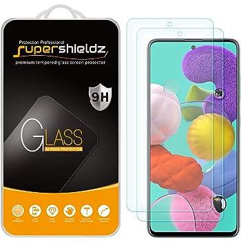 (2 Pack) Supershieldz for Samsung Galaxy A51 / Galaxy A51 5G / Galaxy A51 5G UW Tempered Glass Screen Protector, Anti Scratch, Bubble Free