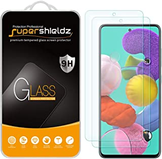 (2 Pack) Supershieldz Designed for Samsung Galaxy A52 / A52 5G / A51 / A51 5G / A51 5G UW Tempered Glass Screen Protector,...