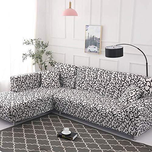 Juego de Fundas geométricas para sofás, Fundas elásticas para sofás para Sala de Estar, aptas para el sofá de Esquina Chaise Longue A16 de 2 plazas