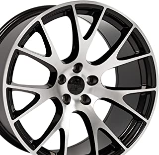 OE Wheels 20 Inch Fits Dodge Challenger Charger SRT8 Magnum Chrysler 300 SRT8 DG15 Hellcat Style Gloss Black Mach'd 20x10 Rim Hollander 2528