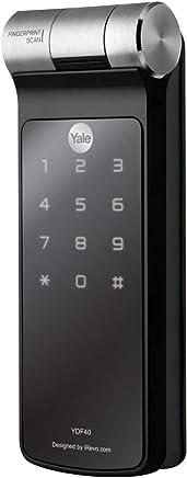 Yale 05423001-2, Fechadura Biométrica Embutir, Preto/Prata, YDF40 . YALE