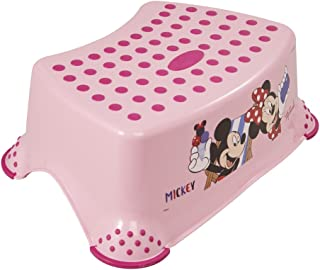 keeeper Disney Minnie Mouse Marchepied, De 3 à 14 Ans Environ, Antidérapant, Tomek, Rose