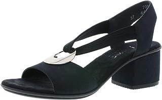 Rieker 64673 Femme Chaussures d'été,Chaussures à Talon Ouvert,Talon Haut,féminin