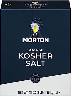 Morton Kosher Salt, Coarse, 48 oz