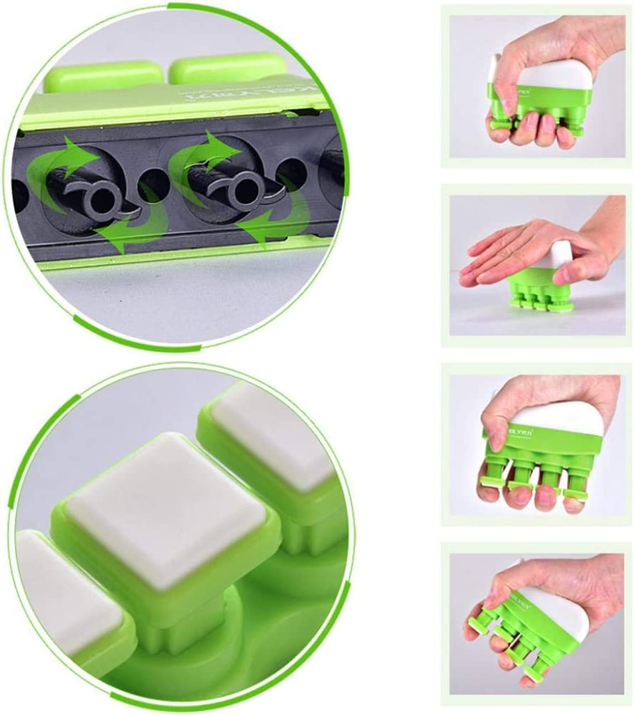 LOadSEcr/'s Musical Instruments Tool Adjustable Power Training Hand Grip Strengthener Home Fitness Finger Trainer Electric Guitar Bass Ukelele Accessories Green