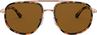 بيرسول SARTORIA PO 2465S نظارات شمسية رجالي مخطط بني أصفر/ بني 57/18/140