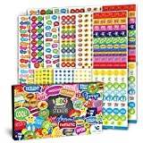 good job stickers for kids - Teacher Stickers 1380 pcs Set – Premium Quality Reward Stickers for Classroom – Incentive Small Stickers for Kids, Students – Funny and Colorful Designs – Highly Detailed Printing