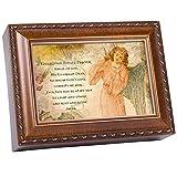 Cottage Garden Guardian Angel Prayer Woodgrain Music Box/Jewelry Box Plays Ave Maria