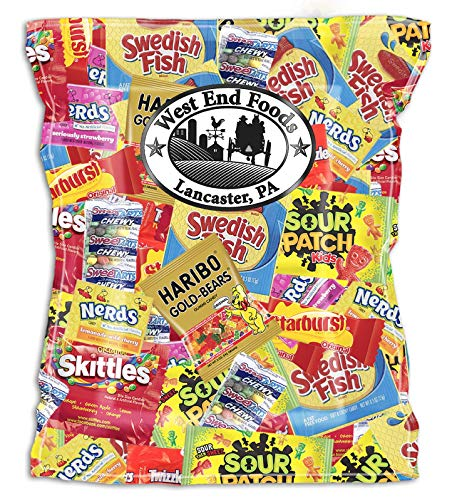 Candy Treats 3 POUNDS - Individually Wrapped Candy - Skittles, Starburst, Swedish Fish, Twizzlers,...