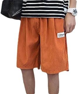 SHOWNO Men's Outdoor Loose Fit Casual Elastic Waist Big & Tall Cargo Shorts