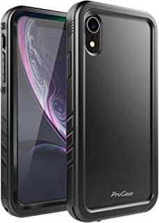 ProCase iPhone XR Case, Rugged Full-Body Protective Case with Built-in Screen Protector Heavy Duty Shockproof Bumper Cover for Apple iPhone XR 6.1
