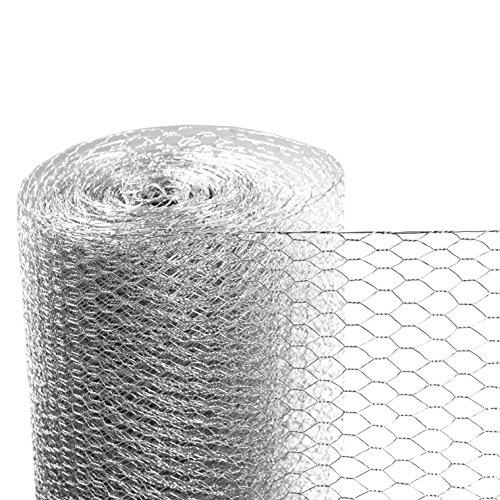 ESTEXO Sechseckgeflecht 50cm x 25m / 13mm Maschung/Kaninchendraht Maschendraht-Zaun 6-Eck Drahtgeflecht 25 m Länge x 50 cm Höhe, 13mm Maschung