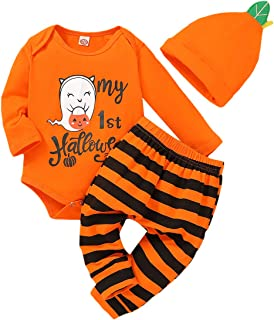 Infant Halloween Costumes Baby Boy Girl Romper Plaid Pants My 1st Halloween Outfits 0-24 Months