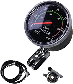 MakeTheOne Old School Style Bicycle Speedometer Analog Odometer Classic Style for Exercycle & Bike