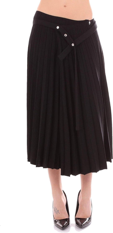MRZ Women's FW180079BLACK Black Polyester Skirt