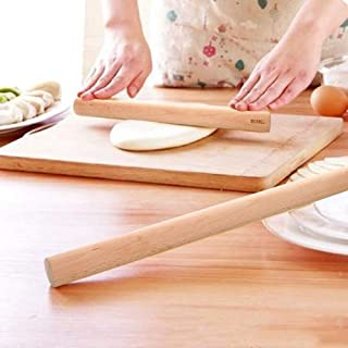 Wood Rolling Pin Baking Tool 19-1/34-Inch by 1-1/4 InchThin Crust Rolling Pin