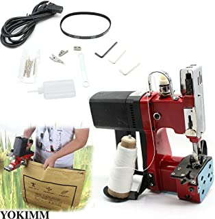 15000RPM Industry Electric Bag Closer Seal Sewing Machine Sealing Portable 110V Sack Stitching Closer for Woven Snakeskin USA Stock