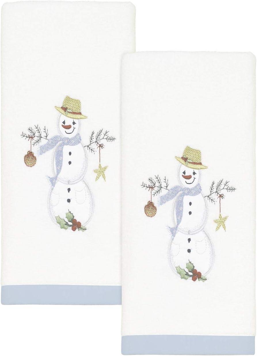 Avanti Linens Coastal Snowman Collection Fingertip Rare pk Louisville-Jefferson County Mall 2 Wh Set