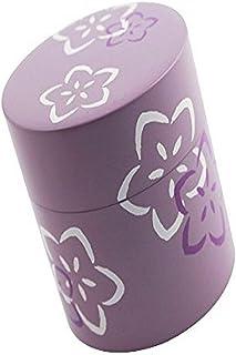 Hakoya SHA-56857 Sakura Green Tea Container, Purple