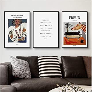 Imprimir en Lienzo 2x20x30cm sin Marco Florido Henri Matisse Pintura Abstracta Vintage Poster Beige Wall Pictures Home Decor