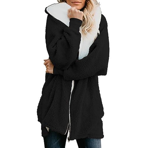 de042c2e1 Black Hooded Fuzzy Jacket: Amazon.com