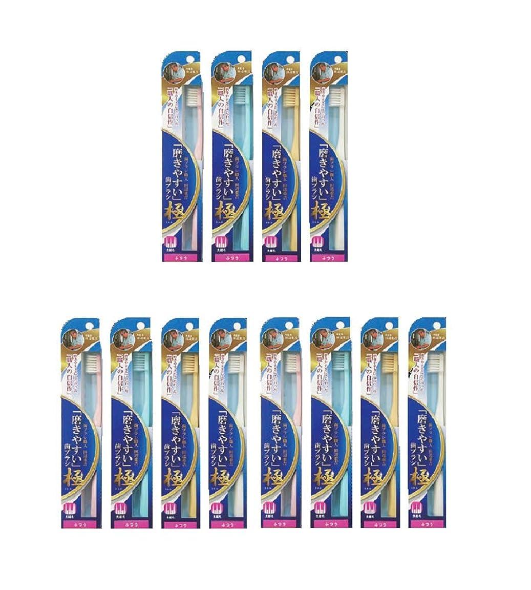 気をつけて乱す独裁ライフレンジ 磨きやすい歯ブラシ 極(ふつう) LT-44 ×12本セット