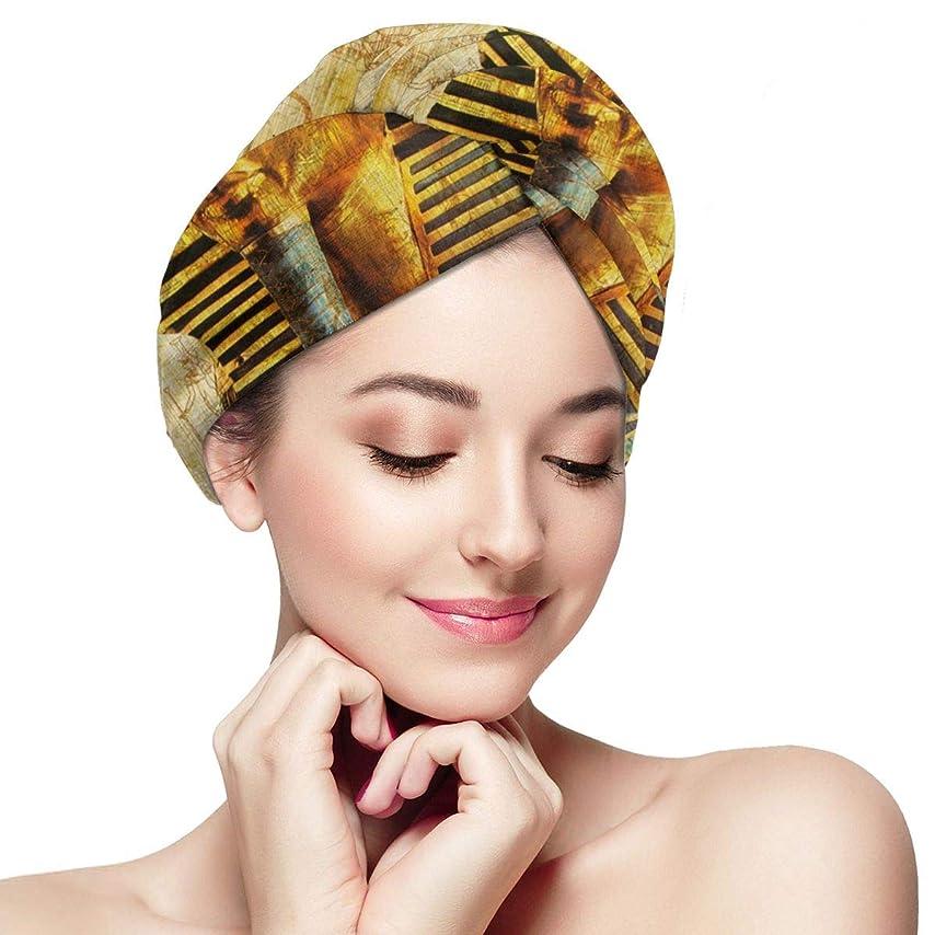ブラケット玉アーサーコナンドイルエジプトのファラオマイクロファイバーヘアタオルターバンラージラップターバンキャップ1パック-超吸収性で髪の乾燥時間を大幅に短縮