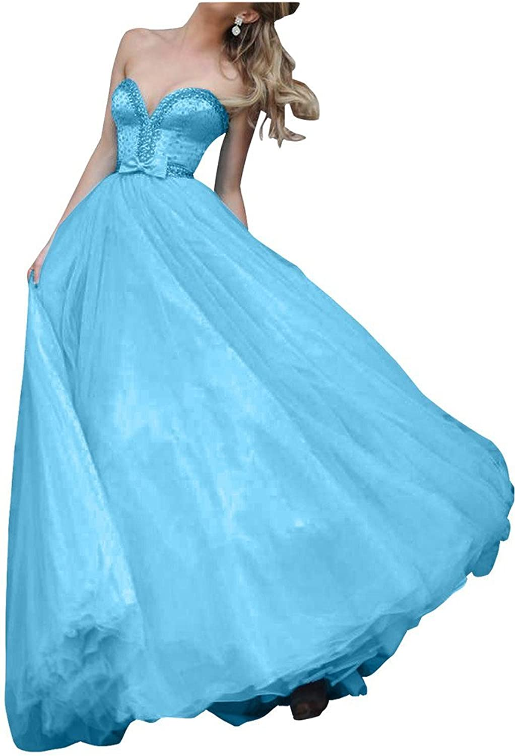 Avril Dress Sweetheart Ball Gown Beading Bowknot Quinceanera Prom Dress