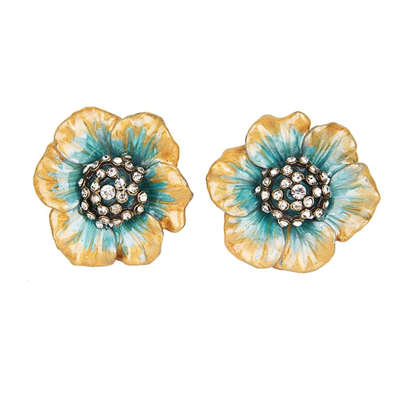 NIKKY HOME Decorative Flower Shape Metal Knobs Pull Handle for Door Cabinet Drawer Pack of 2
